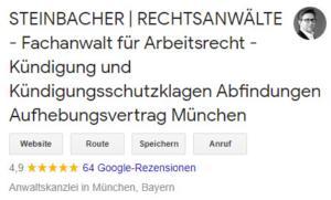 Profilbild Steinbacher Rechtsanwalt für Arbeitsrecht